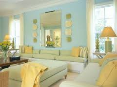 The Sunny Pastels Green Living Room